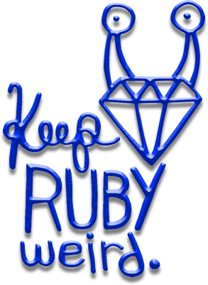 Keep Ruby Weird Logo